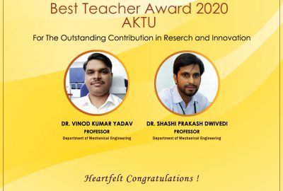 Two Professors of GL Baja have received the Best Teacher Award 2020 by AKTU.
